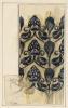 Franz von Stuck, Disegno decorativo: motivo di superficie con fragole   Dekorativer Entwurf: Flächenmuster mit Erdbeeren