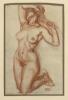 Franz von Stuck, Studio di nudo femminile per 'Inferno'   Weibliche Aktstudie zum 'Inferno'