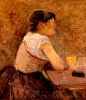Toulouse-Lautrec, A Grenelle, bevitrice di assenzio | À Grenelle, buveuse d'absinthe |  Grenelle, the absinthe drinker