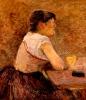 Toulouse-Lautrec, A Grenelle, bevitrice di assenzio.jpg