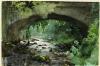 Zorn, Ruscello sotto un vecchio ponte di pietra, Yorkshire   Fors under gammal stenbro, Yorkshire   Stream under an old stone bridge, Yorkshire