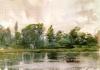 Zorn, Studio di paesaggio, Richmond   Landskapsstudie från Richmond   Landscape study from Richmond
