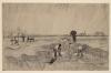 van Gogh, Cimitero sotto la pioggia   Friedhof im Regen   Cimetière sous la pluie   Cemetery in the rain