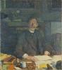Théo van Rysselberghe, Ritratto di Emile Verhaeren nel suo studio | Portrait d'Émile Verhaeren dans son cabinet de travail