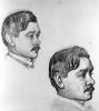 Théo van Rysselberghe, Ritratto di Maurice Maeterlinck (due studi)