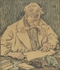 Théo van Rysselberghe, Ritratto di Verhaeren seduto alla sua scrivania | Portrait de Verhaeren assis à son bureau